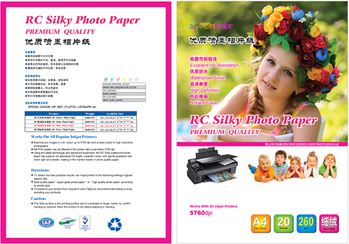 RC Luster/Silky waterproof photo paper
